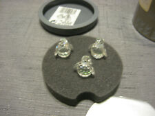 SWAROVSKI SILVER CRYSTAL Set of 3 PENGUINS w/Box, Excellent Condition