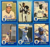 (6) 1988 Star Bo Jackson Kansas City Bomber Baseball Card Lot #1-5