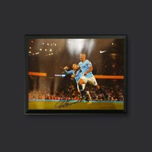 Vincent Kompany Signed Manchester City 16 x 12 Picture