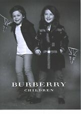 PUBLICITE ADVERTISING 2012   BURBERRY children collection hiver 2012/2013