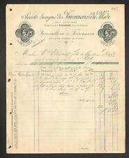 """TOULOUSE (31) USINE de LITS en Fer & QUINCAILLERIE """"FERRONNERIES DU MIDI"""" 1909"""