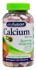 Vitafusion Calcium Gummy Vitamins, 500mg with Vitamin D 100-count