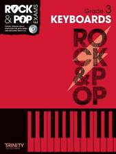 Rock & Pop Exams Keyboards Grade 3 Keyboard Music Book & CD Trinity College S22