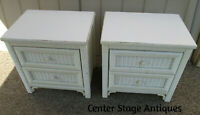 55678 Pair HENRY LINK Wicker Nightstand Table Stands
