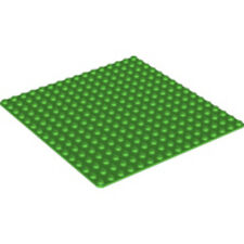 LEGO - Base Plate w/ Rounded Corners - 16 X 16 (5 inch) - Bright Green