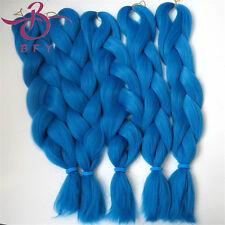 5 pcs 400gram Blue Yaki synthetic braid 24inch 60cm Kanekalon Jumbo Braid T4330
