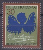 Germany 1978 MNH Mi 978 Sc 1279 Clemens Brentano,poet.Brentano as Butterfly **