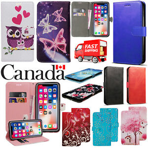 For Apple iPhone 7 8 Plus XR XS 11 Pro Max SE PU Leather Flip Wallet Case Cover