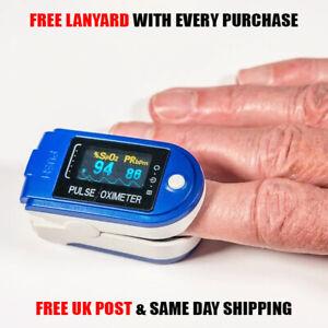 PRO MEDICAL GRADE FINGER PULSE OXIMETER Monitor Heart Rate Blood Oxygen Oxymeter