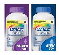 Centrum Silver COMBO PACK 1x Women 50+ 250 ct + 1x Centrum Men 50+ 250 ct