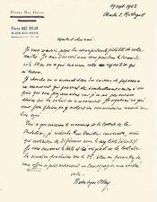 Pierre MAC ORLAN / Lettre autographe signée à Charles Rathgeb.
