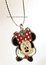 Minnie Mickey Mouse Ears Necklace Disney Enamel Pendant 18 inch chain USA Seller