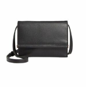 Alfani Women's Faux Leather Mini Toggle Crossbody Bag | Color - Black/gold