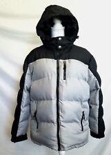 Outdoor Life Men's Hooded Puffer Jacket Size Medium Black Gray