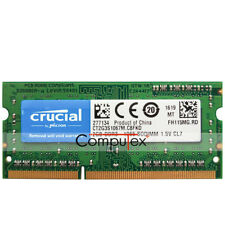 New Crucial 2GB PC3-8500 DDR3-1066 204Pin 1.5V CL7 Sodimm Laptop Notebook Memory
