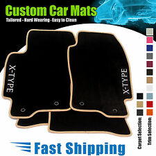 JAGUAR X TYPE [Diesel] (2003 to 2009) BLACK CAR MATS + CUSTOMISE FOR FREE