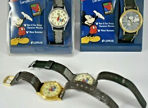 Vintage Lorus Goofy Backward & Mickey Mouse Character Quartz Watches lot.e