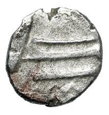 """War Ship On Water Silver Greek Coin of Sidon Phoenicia """"Galley, Oars"""" Coa Boat"""