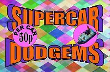 Super Dodgems  Vintage Style Sign  Funfair Ride   Vintage Fairground Sign
