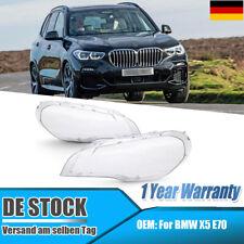 Ein Paar Scheinwerferglas Streuscheibe Rechts +Links Für 2008-2013 BMW X5 E70