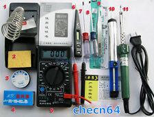 Soldering tool kit DT832 Multimeter+30W Soldering Iron+desolder+Tin+Stand+Rosin