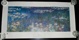 Vintage 1967 New York Graphic Society Claude Monet Water Lilies Lithograph