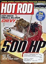 Hot Rod Magazine August 2001 Chevy 427 / Ford Forty Nine Poster Inside