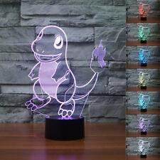 New 3D Pokemon Go Charmander Night Light 7 Color Change LED Desk Table Lamp#
