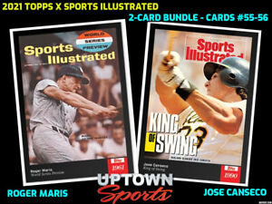 2021 Topps x Sports Illustrated Bundle Cards 55-56 - Roger Maris - JOSE CANSECO