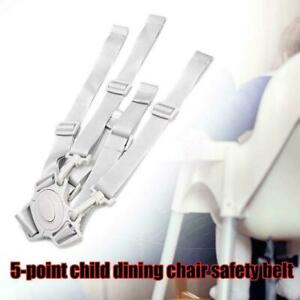 Baby Universal 5 Point Harness High Chair Safe Belt Belts Seat .