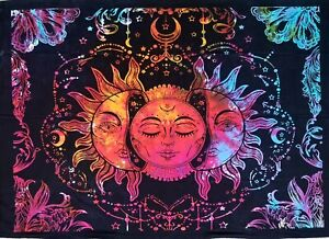 Colourful Tarot Tapestry Sun Wall Hanging Medieval Europe Divination Altar Cloth