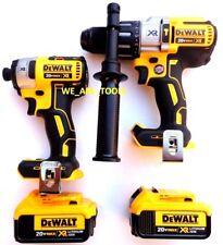 DeWalt DCD996 20V XR 1/2 Hammer Drill, DCF887 Impact, (2) DCB204 Battery 3-Speed
