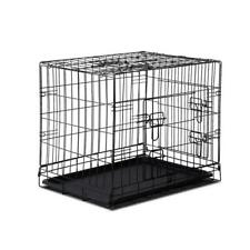 """I.pet 24"""" Dog Cage Pet Crate Puppy Cat Foldable Metal Kennel Portable 3 Doors S"""