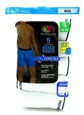 10 White Small S 28-30 Boxer Briefs CoolZone Fly Fruit Of  The Loom CH 71-76 CM