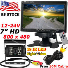 "12V-24V 7"" LCD Car Rear View Monitor Kit for Bus Truck +Parking Backup Camera"