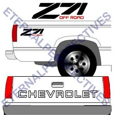 90's CHEVROLET Tailgate Black Truck Lettering + (2) Z71 Vehicle Vinyl Decal SET