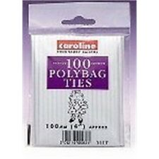 "Caroline 100 Polybag Ties - 100mm 4"" Approx - Closures Polythene x Pack 4"