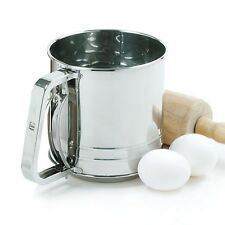 NORPRO Stainless Steel Flour Sifter Cup Icing Sugar Shaker Strainer Sieve NP138N