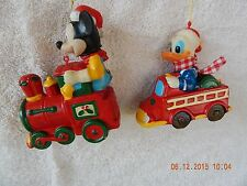 VINTAGE WALT DISNEY PRODUCTIONS, MICKEY MOUSE & DONALD DUCK CHRISTMAS ORNAMENTS.
