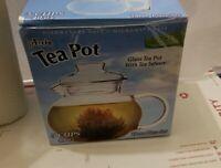 New Primula Flowering Teas 40 OZ/5 Cup Glass Tea Pot with Lose Tea Infuser