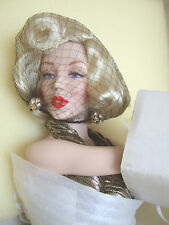 Très marilyn monroe franklin mint doll #5 golden marilyn 1994 mib