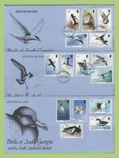 South Georgia 1987 Birds definitive set on three registered First Day Covers