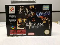 Batman Returns - SNES Super Nintendo Game CIB PAL UKV + Box Protector