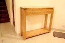 Australian Made Solid Oak Metro Hall Way Console Table