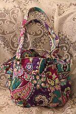 NWT Vera Bradley GLENNA Shoulder Bag Purse HEATHER Blue Purple Flowers $80