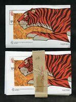 MACAU  SCOTT#908 TIGER SOUVENIR SHEET LOT OF 100 MINT NH