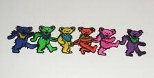 """Grateful Dead Dancing Bears Strip Embroidered iron on Patch 9 1/2"""""""