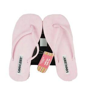 Sam & Libby Women's Pink BEACHIE KEEN Flip Flops Thong Sandals Sz 7-8 M