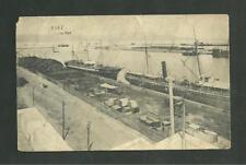 POST CARD PRE 1920 LA PORT SUEZ EGYPT
