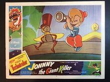 "11 x 14  ""Johnny The Giant Killer"" 1953 LOBBY CARD ANIMATED MOVIE THEATER PROMO"